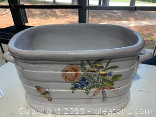 Ceramic Oval-Rectangular Planter-Vase