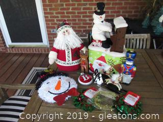 Christmas Lot Snowman & Santa Plus More