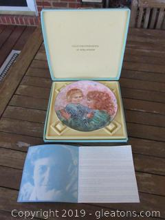 "Royal Doulton ""Kathleen and Child"" A Limited Edition Collector Plate by Artist Edna Hibel"