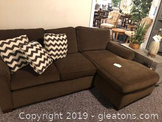 Nice Plush Sectional by CR Laine