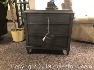 New Grey Nightstand by Hooker