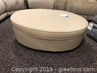 Oval Ottoman by Lancer