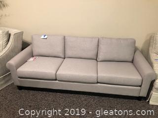 Elegant Pale Grey Palliser Sofa