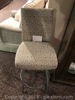 Nice Swivel Bar Stool with Fabric Seat & Back
