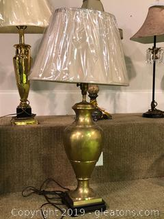 Striking Shiny Brass Lamp