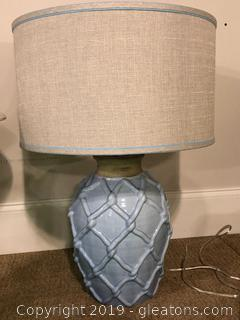 Elegant Blue Drum Lamp by Uttermost Lighting