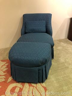 Beautiful Accent Chair and Ottoman
