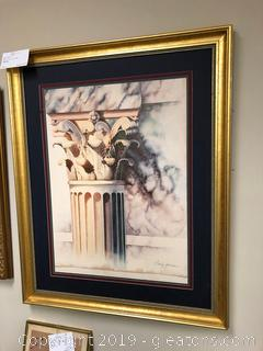 Framed Wall Art of Column