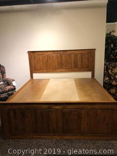 King Size Bed From Whittier Wood; With Storage