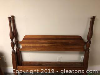 Vintage Full Size Head Board , Foot Board , Rails