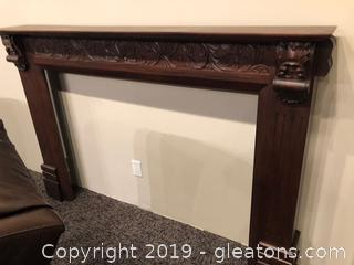Beautiful Carved Fire Place Mantel