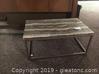 Marble Top Coffee Table with metal base