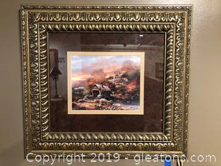 Very Attractively Framed and Matted  Country Landscape by James Lee
