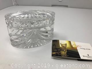 Gorgeous Waterford Lidded Candy Dish or Trinket Box