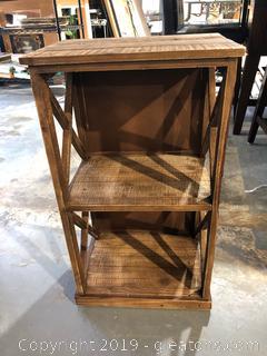Small Wooden Farmhouse Shelf