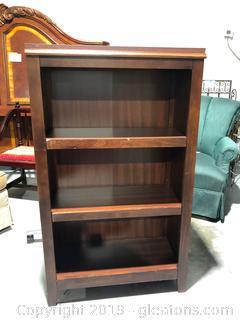 Tall Wood Book Case W/3 Shelves