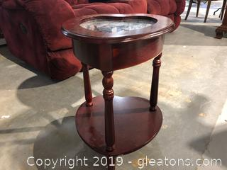 Cherry Wood Top & Bottom Heart Shaped table