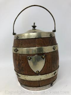 Vintage Oak Biscuit Ice Bucket