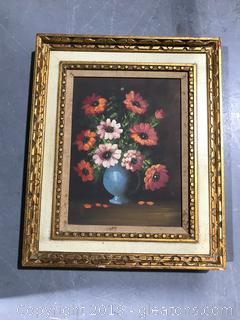 Original Floral Still Life Painting Artwork