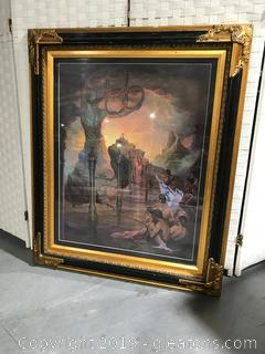 Olympiad Artwork with Ornate Gold and Black Frame
