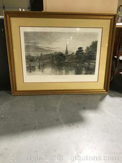 Great Marlow Etching Reproduction Artwork