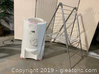 The Laundry Alternative Nina Soft Spin Dryer and Drying Rack