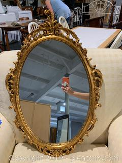 NEW Ornate Gold Oval Mirror