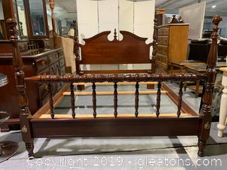 Full Size Traditional Bed With Headboard and Footboard