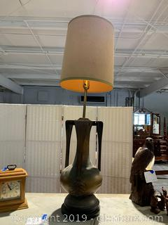 Very Large Vintage Brass table Lamp