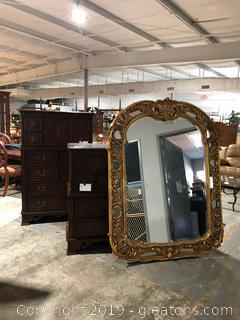 Bombay Company Gold Oval Mirror