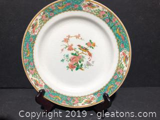 """9"""" Round English Porcelain W.H Grindley and Co Plate"""