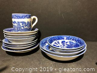 Lot of Blue and White China
