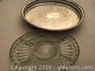 Silver plate relish dish