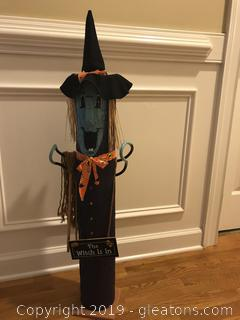 "The Witch is ready for Halloween 39"" tall"