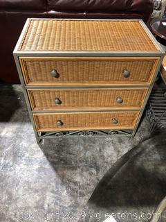 3 Drawer Wicker Chest of Drawers