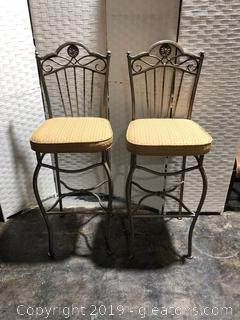 2 Iron Bar Stools