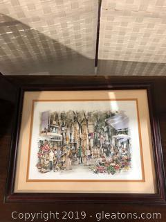 Signed Barcelona Art Work