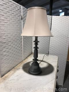 Silver Painted Lamp