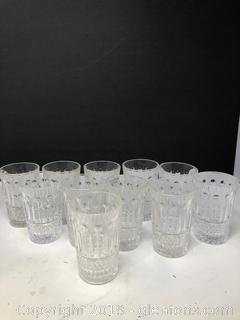 Cut Crystal Juice Glasses Studio Crystal
