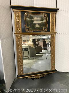 Authentic Timeless Treasures Mirror with Hand Painted  Detail