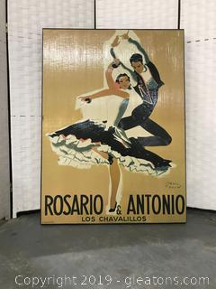 Rosario & Antonio Poster on Canvas Artwork