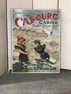 Cabourg Casino French Reproduction Poster on Canvas
