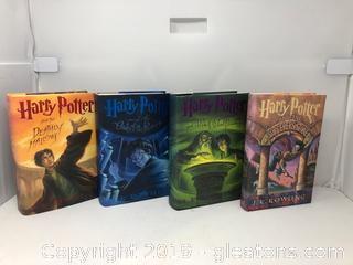 4 Harry Potter Hardback Books