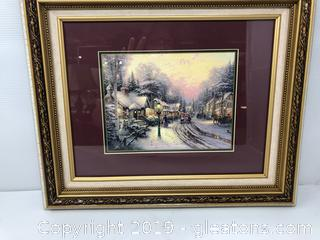 Framed Thomas Kincade Picture