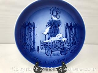 1979 Old Copenhagen Blue Collector's Plate