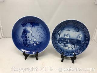 2 1976 Collector's Plates