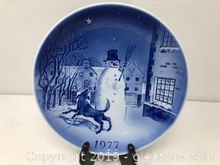 1977 Old Copenhagen Blue Collector's Plate