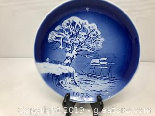 1978 Old Copenhagen Blue Collectors Plate