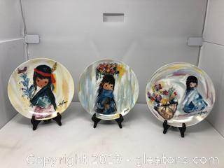3 Collector's Plates De Grazia's Children of the Sun