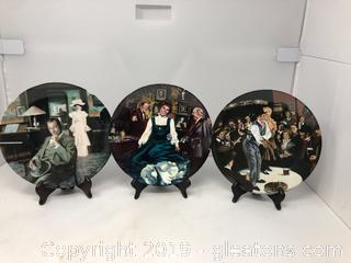 "3"" My Fair Lady"" Collector's Plates Edwin M. KNowles China Co."
